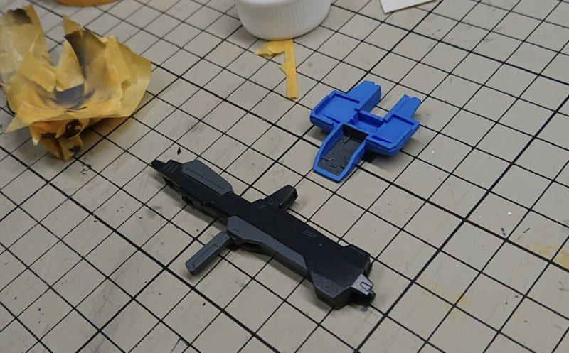 HGUC Z Gundam back parts and beam rifle finished painting