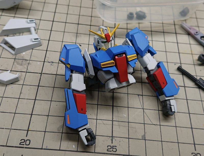 HGUC Z Gundam upper body assembly