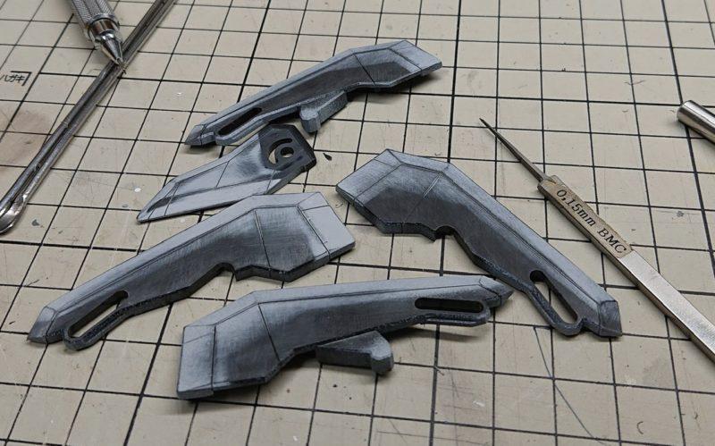 HGUC Z Gundam back binder line re-engraved stamp