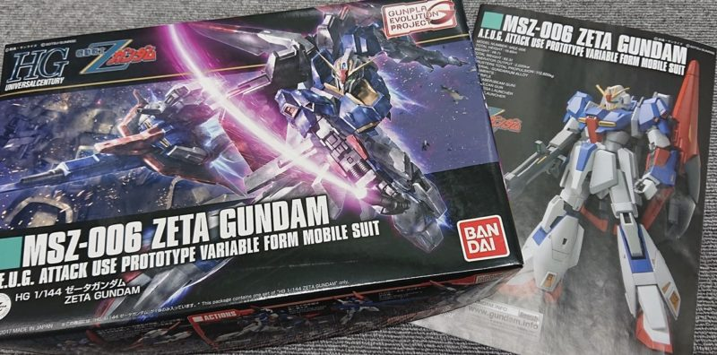 HGUC Z Gundam package and instructions