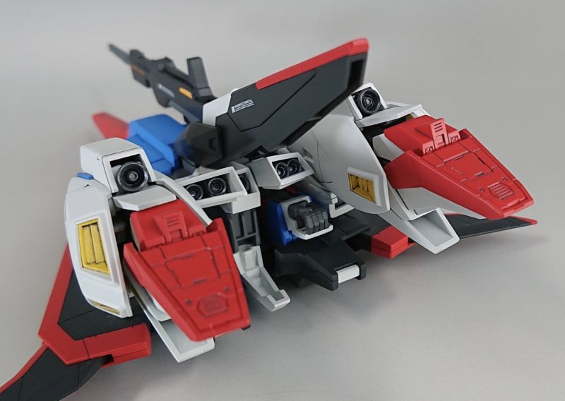 HGUC Z Gundam, Wave Rider Form, Rear View