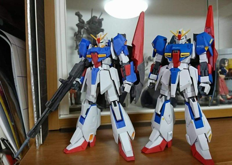 HGUC Z Gundam assembly surface treatment